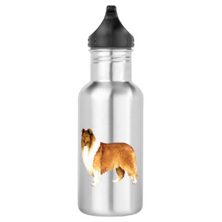 I Love my Collie Stainless Steel Water Bottle