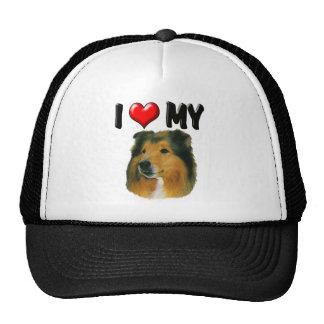 I Love My Collie Trucker Hat