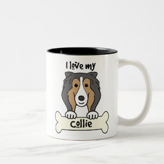 I Love My Collie Two-Tone Coffee Mug