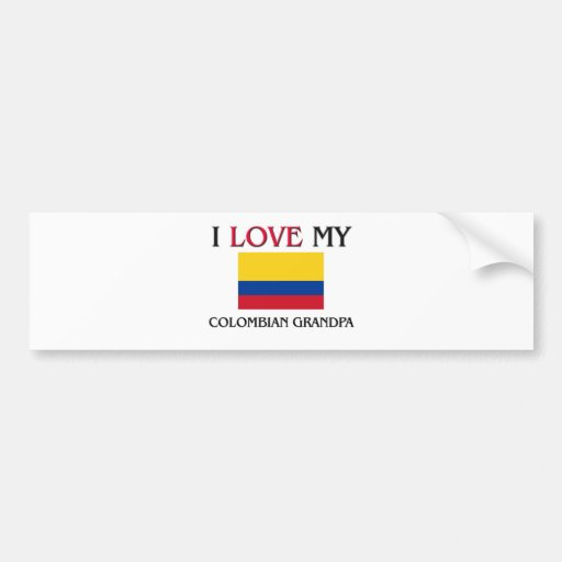 I Love My Colombian Grandpa Bumper Stickers