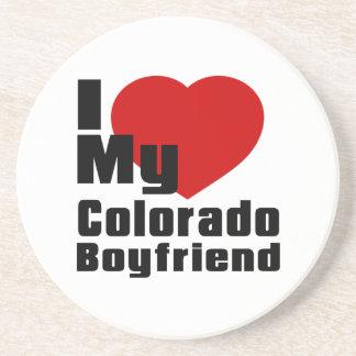 I Love My Colorado boyfriend Beverage Coaster