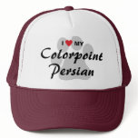 I Love My Colorpoint Persian Cat Pawprint Design Trucker Hat