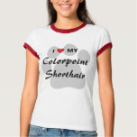 I Love My Colorpoint Shorthair Cat Pawprint Design T-Shirt