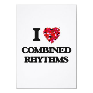 I Love My COMBINED RHYTHMS 5x7 Paper Invitation Card