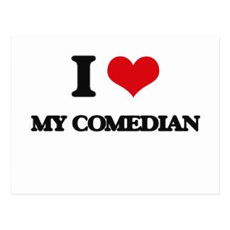 I love My Comedian Postcard