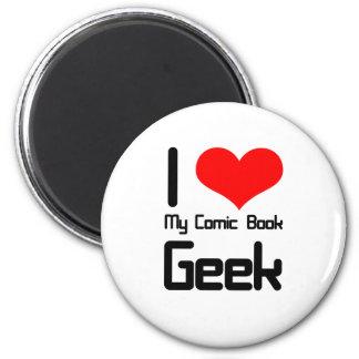 I love my comic book geek magnet