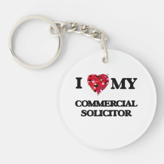 I love my Commercial Solicitor Single-Sided Round Acrylic Keychain