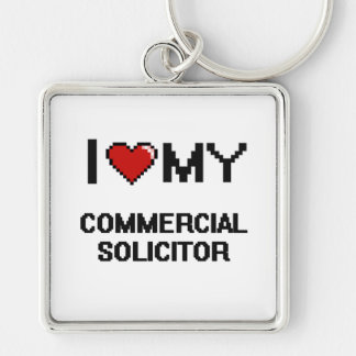 I love my Commercial Solicitor Silver-Colored Square Keychain