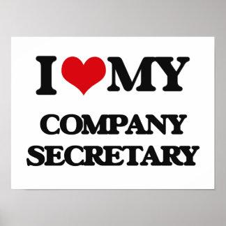 I love my Company Secretary Poster