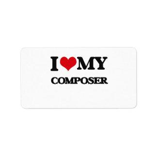 I love my Composer Address Label