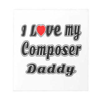 I Love My Composer Mom Notepads