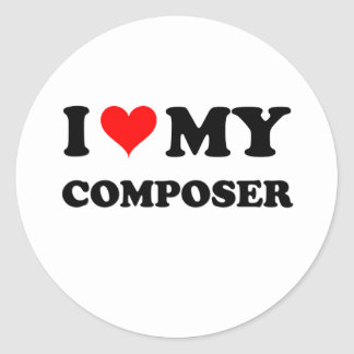 I Love My Composer Stickers