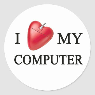 I LOVE MY COMPUTER ADESIVO