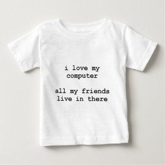 i love my computer baby T-Shirt
