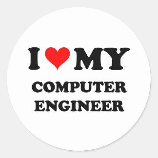 I Love My Computer Engineer Stickers