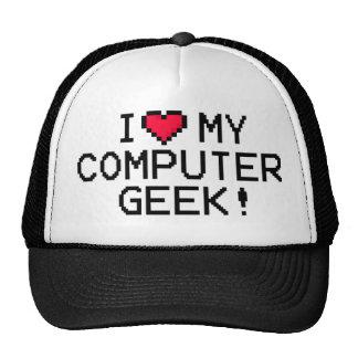 I Love My Computer Geek Mesh Hats