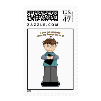 I Love My Computer... Postage Stamp