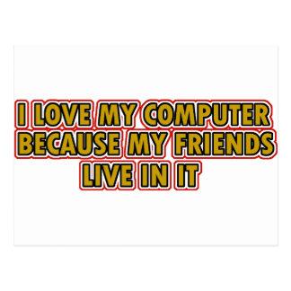 I love my Computer Postcard