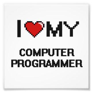 I love my Computer Programmer Photo Print