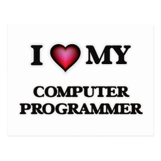 I love my Computer Programmer Postcard