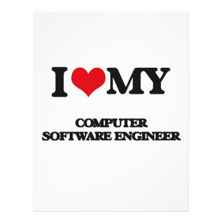 I love my Computer Software Engineer Full Color Flyer