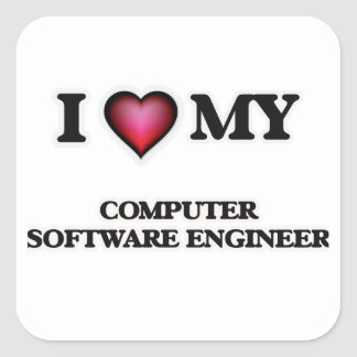I love my Computer Software Engineer Square Sticker