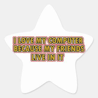 I love my Computer Star Sticker