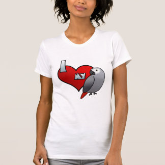 I Love my Congo African Grey Ladies T-Shirt