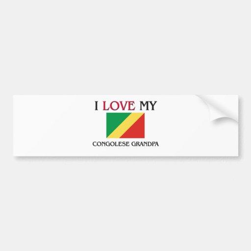 I Love My Congolese Grandpa Bumper Sticker