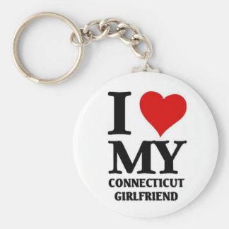 I love my Connecticut Girlfriend Keychain
