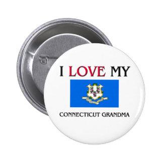 I Love My Connecticut Grandma Pinback Button