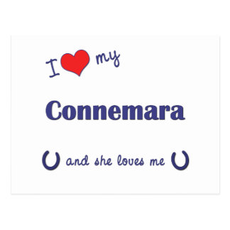 I Love My Connemara (Female Pony) Postcard