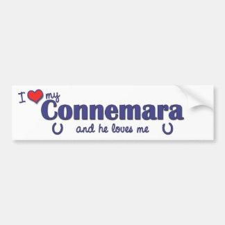 I Love My Connemara (Male Pony) Bumper Sticker