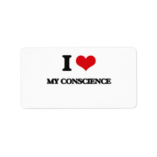 I love My Conscience Address Label
