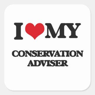 I love my Conservation Adviser Square Sticker