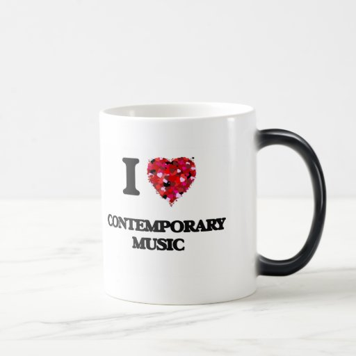 I Love My CONTEMPORARY MUSIC 11 Oz Magic Heat Color-Changing Coffee Mug