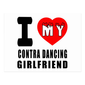 I Love My Contra Dancing Girlfriend Postcard