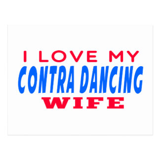 I Love My Contra Dancing Wife Postcard