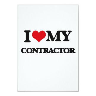 I love my Contractor 3.5x5 Paper Invitation Card