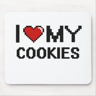 I Love My Cookies Digital design Mouse Pad