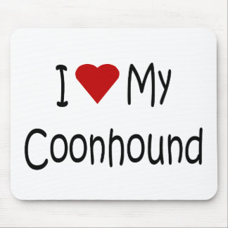 I Love My Coonhound Dog Breed Lover Gifts Mouse Pad
