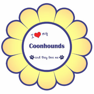 I Love My Coonhounds (Multiple Dogs) Statuette