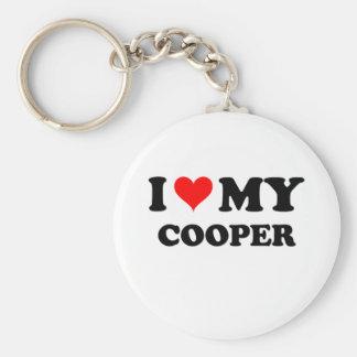 I Love My Cooper Keychain