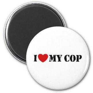 I Love My Cop 2 Inch Round Magnet