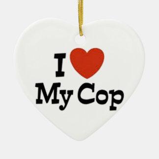 I love my cop christmas tree ornaments