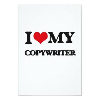 "I love my Copywriter 3.5"" X 5"" Invitation Card"