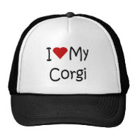 I Love My Corgi Dog Breed Lover Gifts and Apparel Trucker Hats