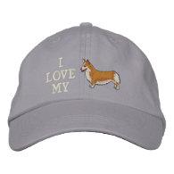 I Love my Corgi Embroidered Hat Embroidered Baseball Caps