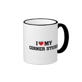 I love my corner store. ringer coffee mug