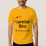 I Love My Cornish Rex (Multiple Cats) Shirt